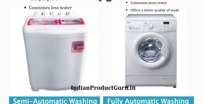 Semi-automatic washing machine Vs fully-automatic washing machine