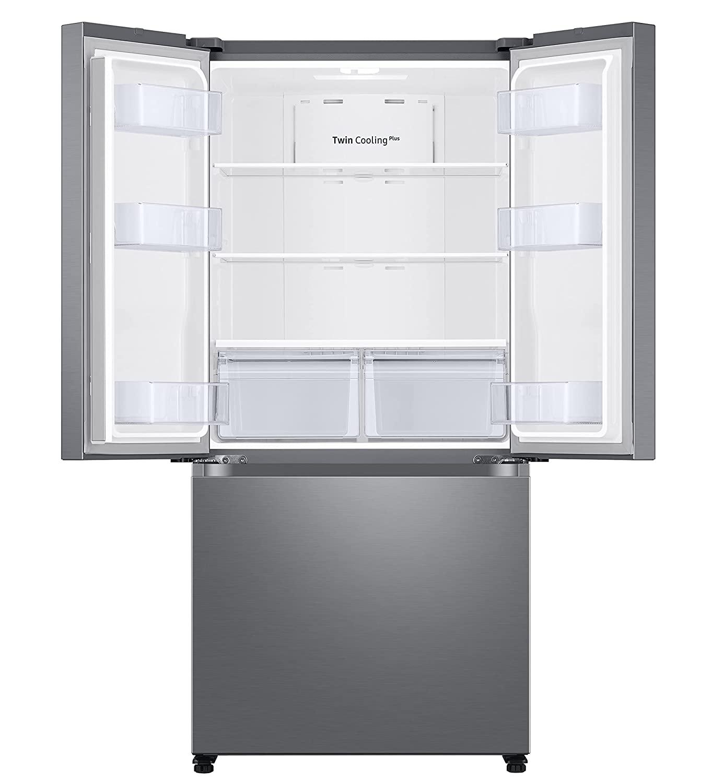 Triple door bottom freezer refrigerator
